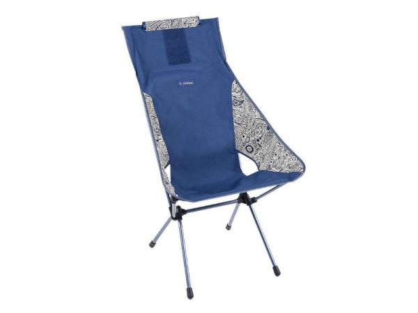Helinox Stuhl Sunset Chair Campingstuhl, Blue Paisley, inkl. Packtasche