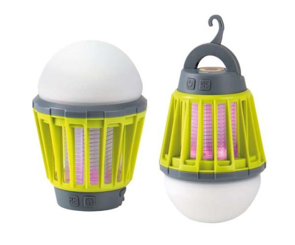 LED Akku Dachzeltlampe / Campingleuchte mit Insektenschutz