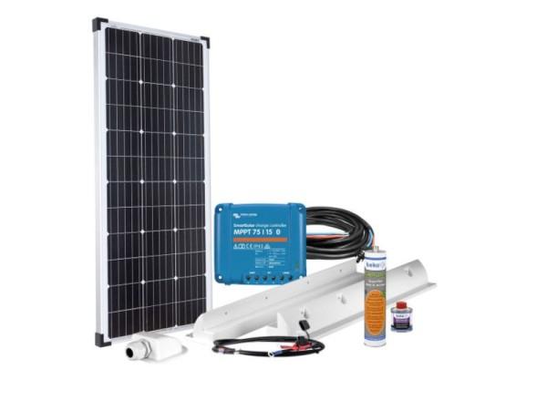 100 W Solar Komplett Set MPPT 12V für Wohnmobil