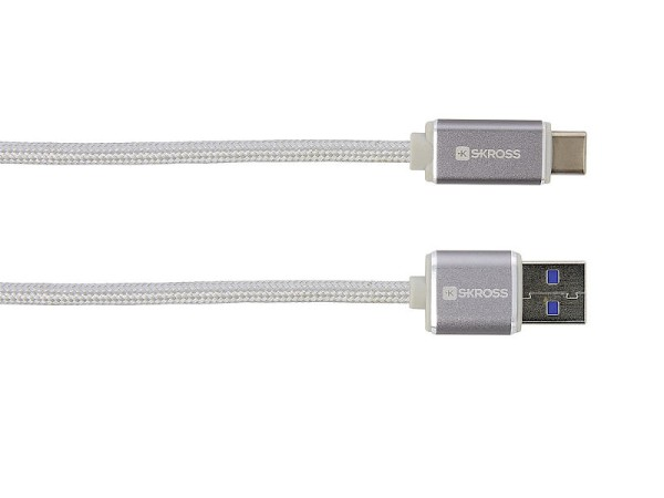 Ladekabel USB zu USB Typ-C Steel Line SKROSS