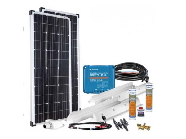 200 W Solar Komplett Set MPPT 12V für Wohnmobil Solaranlage