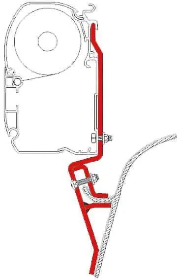 Markisenhalter Fiamma F45 Adapter, VW T3 - Fiamma